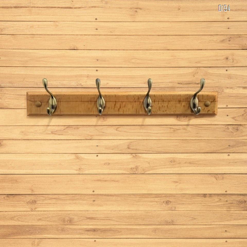 High quality beech and zinc alloy clothes hook  AB color bronze zinc alloy wooden hook