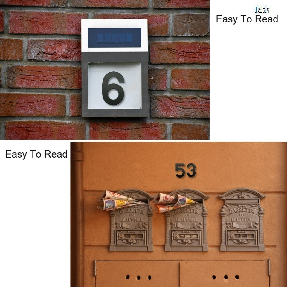 6 inch 145mm Big Modern House Number Hotel Home Door Room Number Outdoor Address Plaque Iron House Number 5