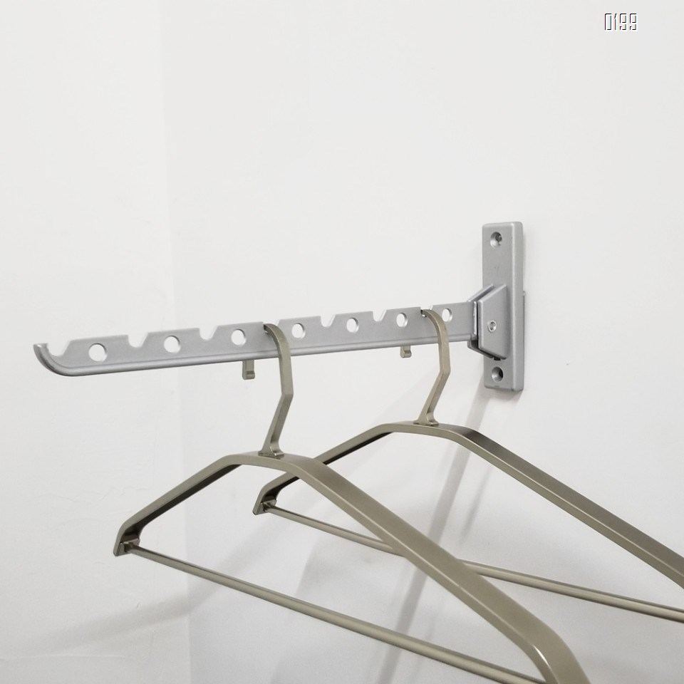 Screw Fix  Folding wall-mounted clothes Hanger rack  Aluminum alloy hangers coat hook
