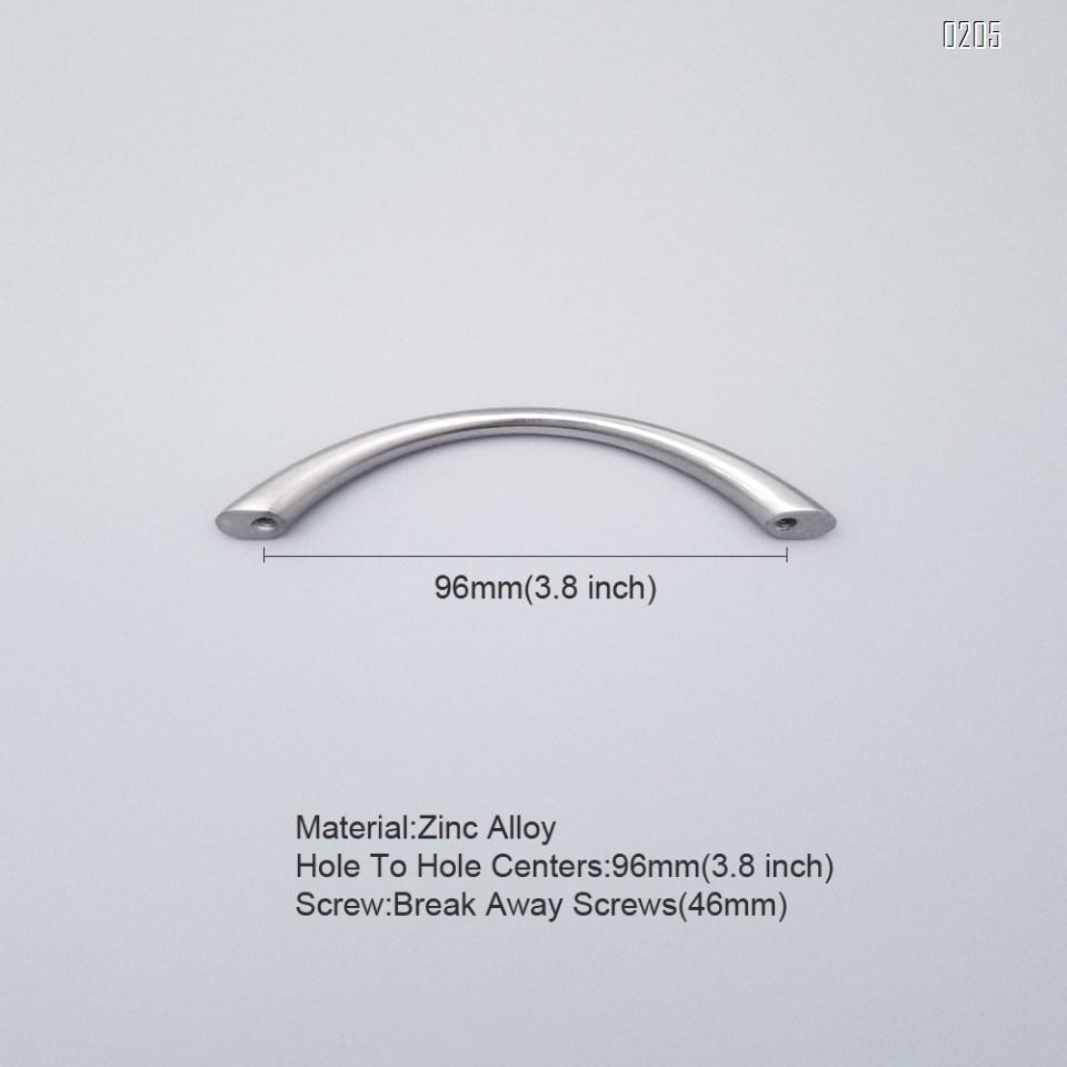 6 Pack 96mm zinc alloy silver modern kitchen handles kitchen door handles drawer pulls and knobs