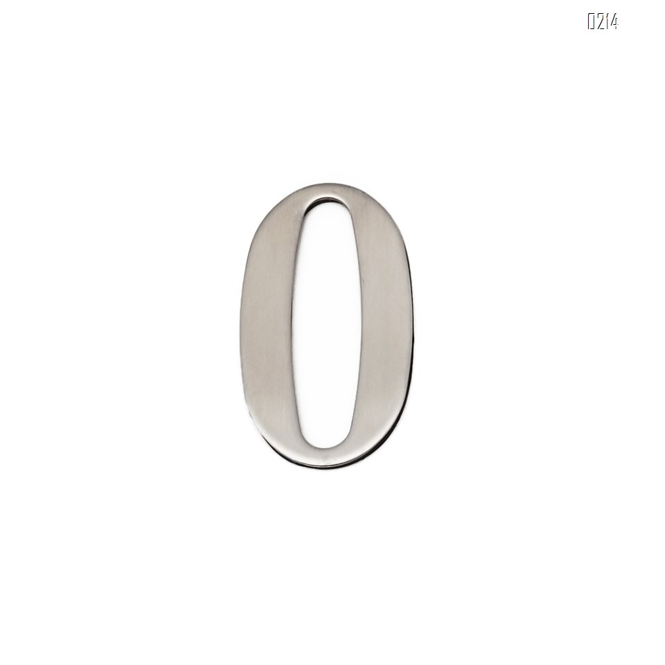 self adhesive house  number 0,1.4 inch Mailbox Numbers,304 Stainless Steel