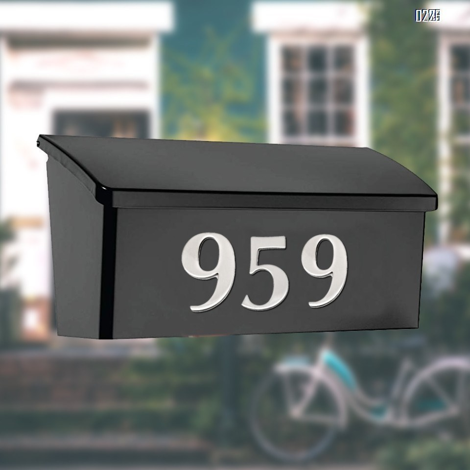 self adhesive house  number 8,1.4 inch Mailbox Numbers,304 Stainless Steel