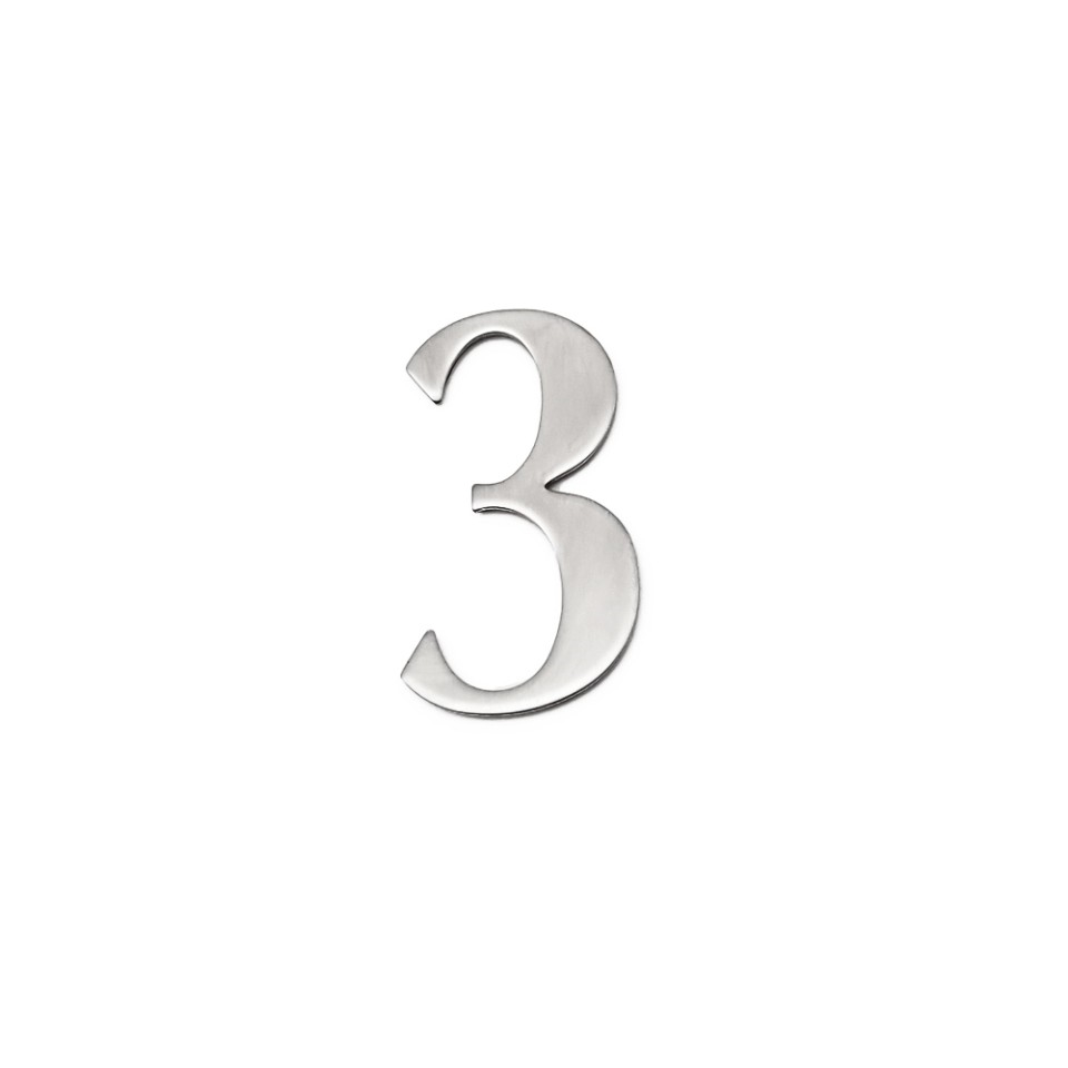 self adhesive house  number 3,1.4 inch Mailbox Numbers,304 Stainless Steel