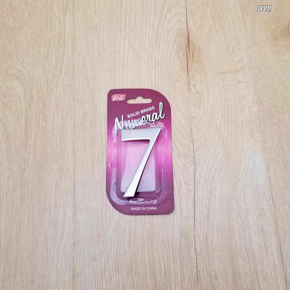 self adhesive house  number 7,1.4 inch Mailbox Numbers,304 Stainless Steel