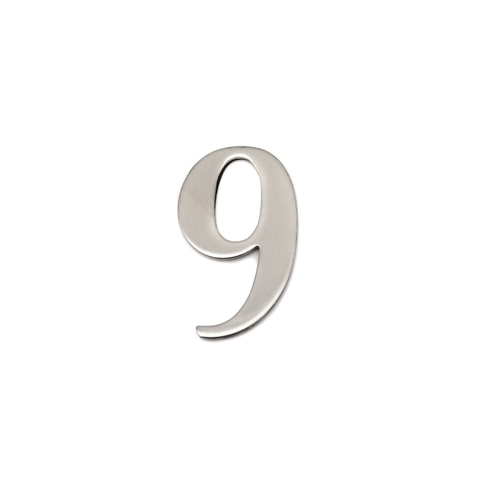 self adhesive house  number 9,1.4 inch Mailbox Numbers,304 Stainless Steel