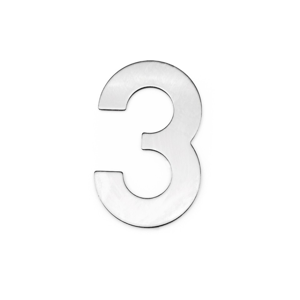 4 Inch House Numbers 3, Door Address Number Stickers for House/Apartment/Floor,  304 Stainless Steel