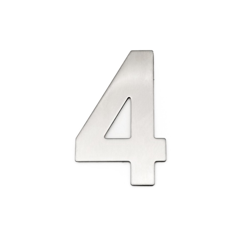 4 Inch House Numbers 4, Door Address Number Stickers for House/Apartment/Floor,  304 Stainless Steel