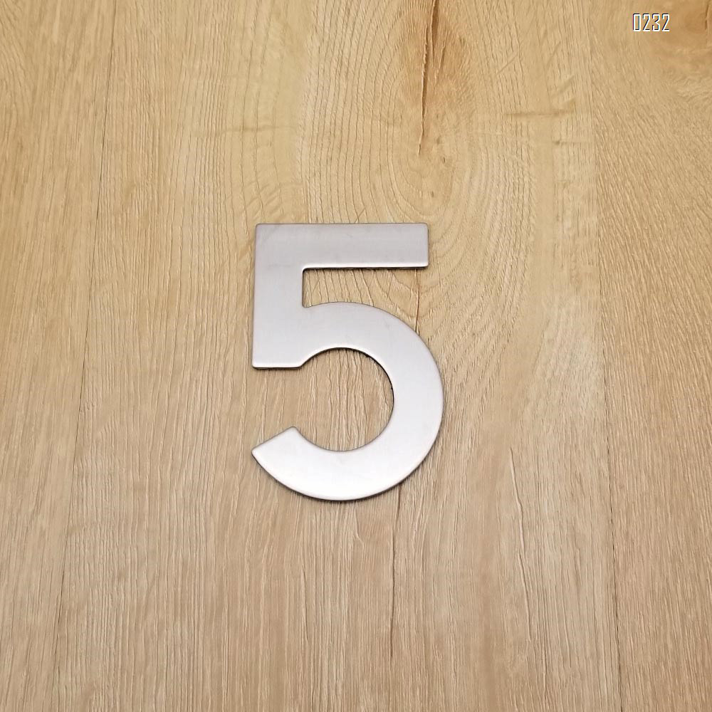 4 Inch House Numbers 5, Door Address Number Stickers for House/Apartment/Floor,  304 Stainless Steel