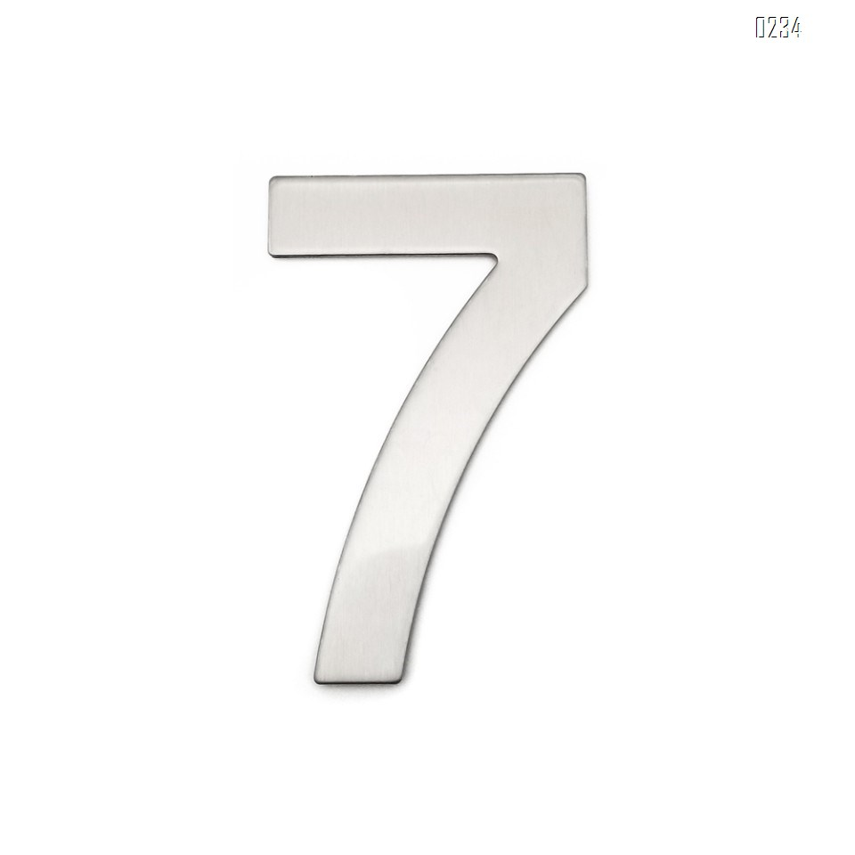 4 Inch House Numbers 7, Door Address Number Stickers for House/Apartment/Floor,  304 Stainless Steel