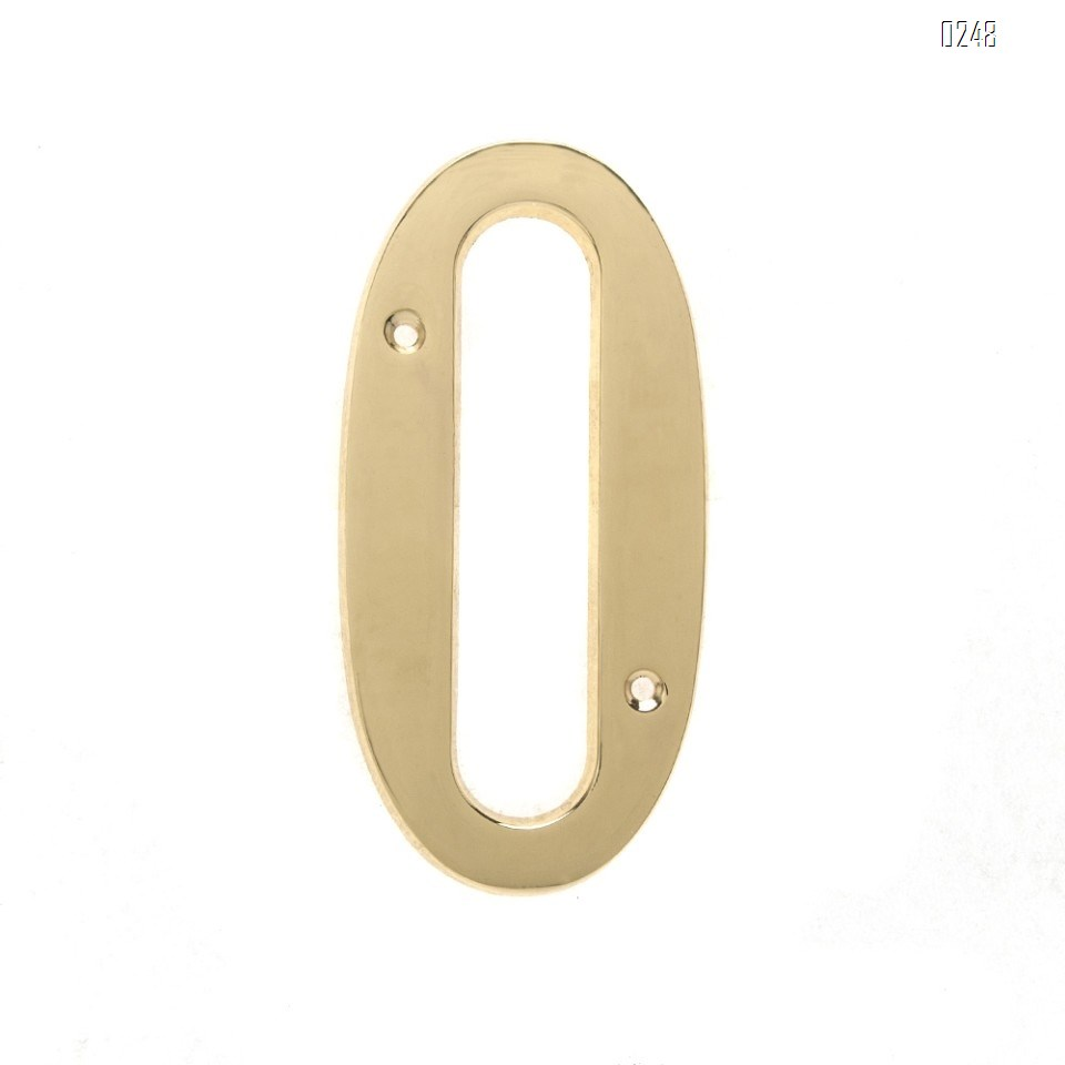6 inch Copper Plaque for Outdoor Address Plate of Household Door Brass Number in 140 mm Grand Modern Door Number Hotel House Number 0