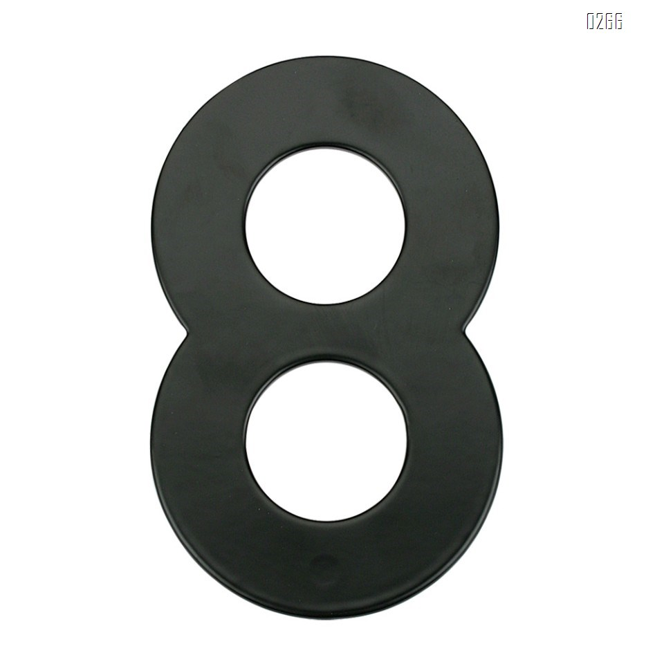6 inch 145mm Big Modern House Number Hotel Home Door Room Number Outdoor Address Plaque Iron House Number 8