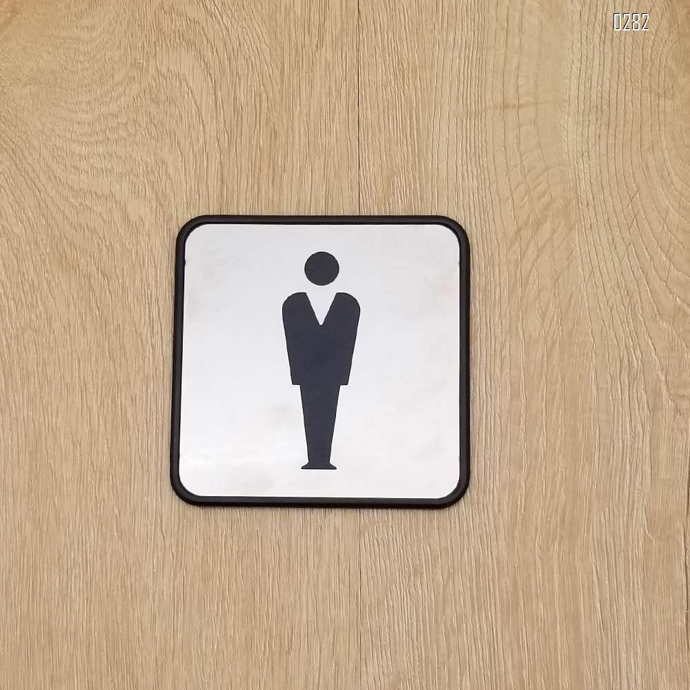 Self Sticker Men Bathroom Signs,  Bathroom Door Sign for Offices, Businesses,Stainless Steel Plus Plastic bathroom signs