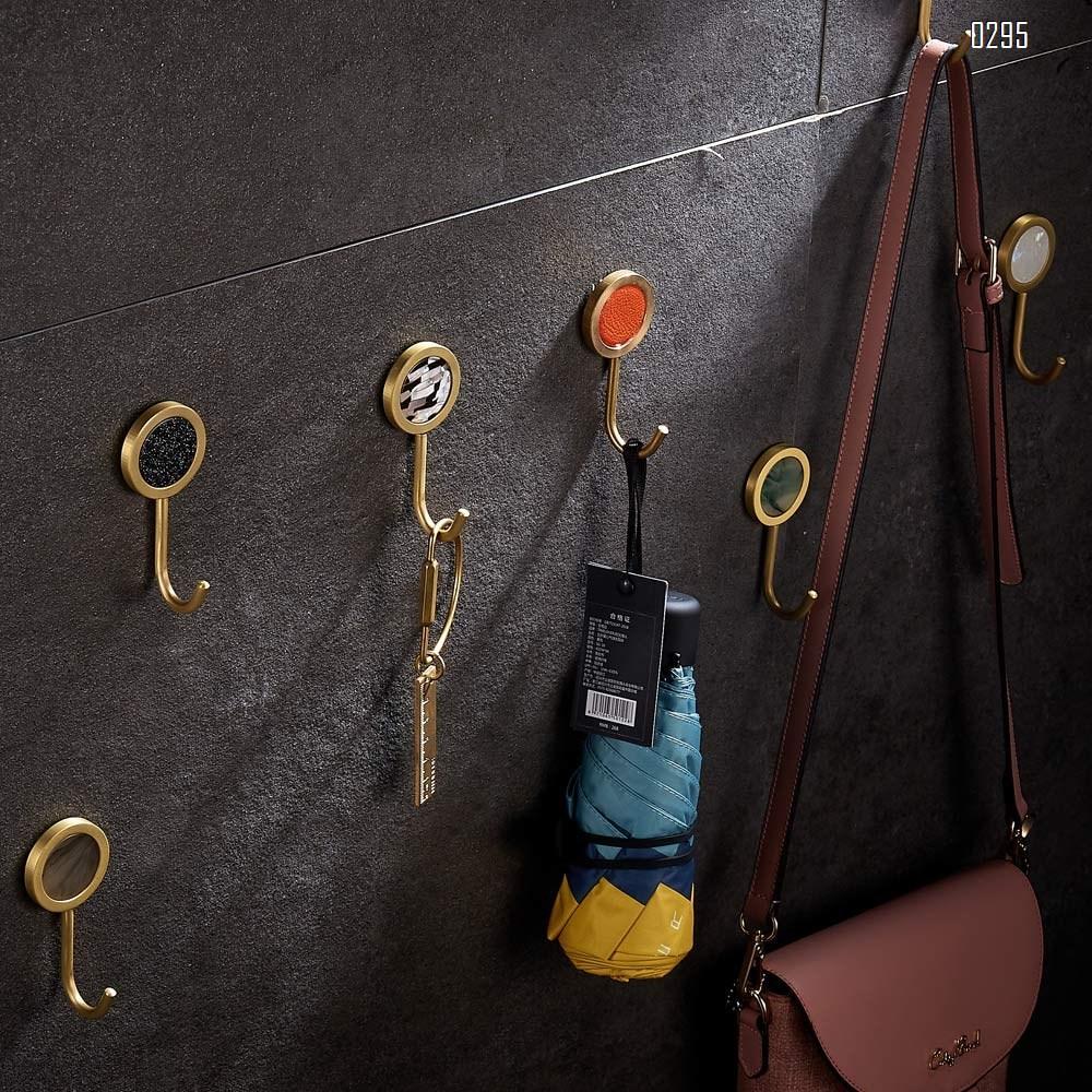 Nordic Decorative Hooks/ Pearl Shells Brass Wall Hooks/ Coat Hooks/ Bathroom Kitchen Towel Hooks/ Hat Hangers Bag Hooks/ Decorative Hooks brown