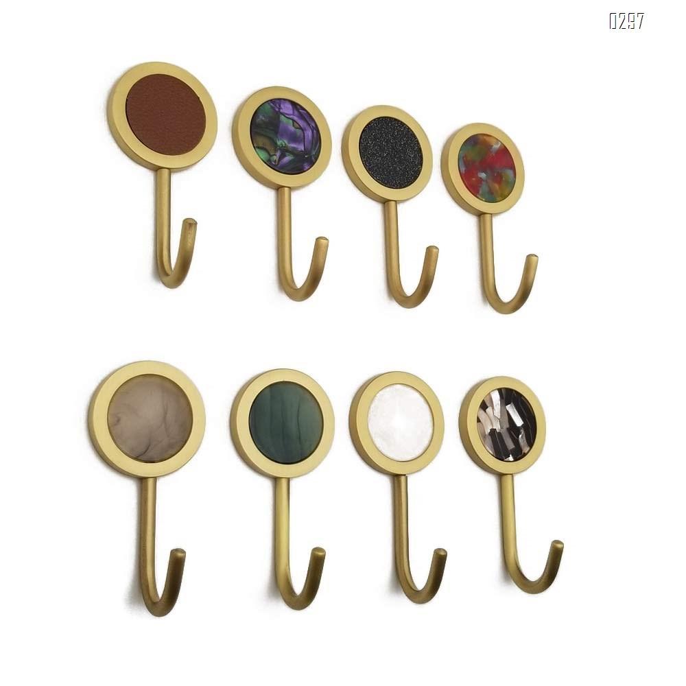 Nordic Decorative Hooks/ Pearl Shells Brass Wall Hooks/ Coat Hooks/ Bathroom Kitchen Towel Hooks/ Hat Hangers Bag Hooks/ Decorative Hooks Green