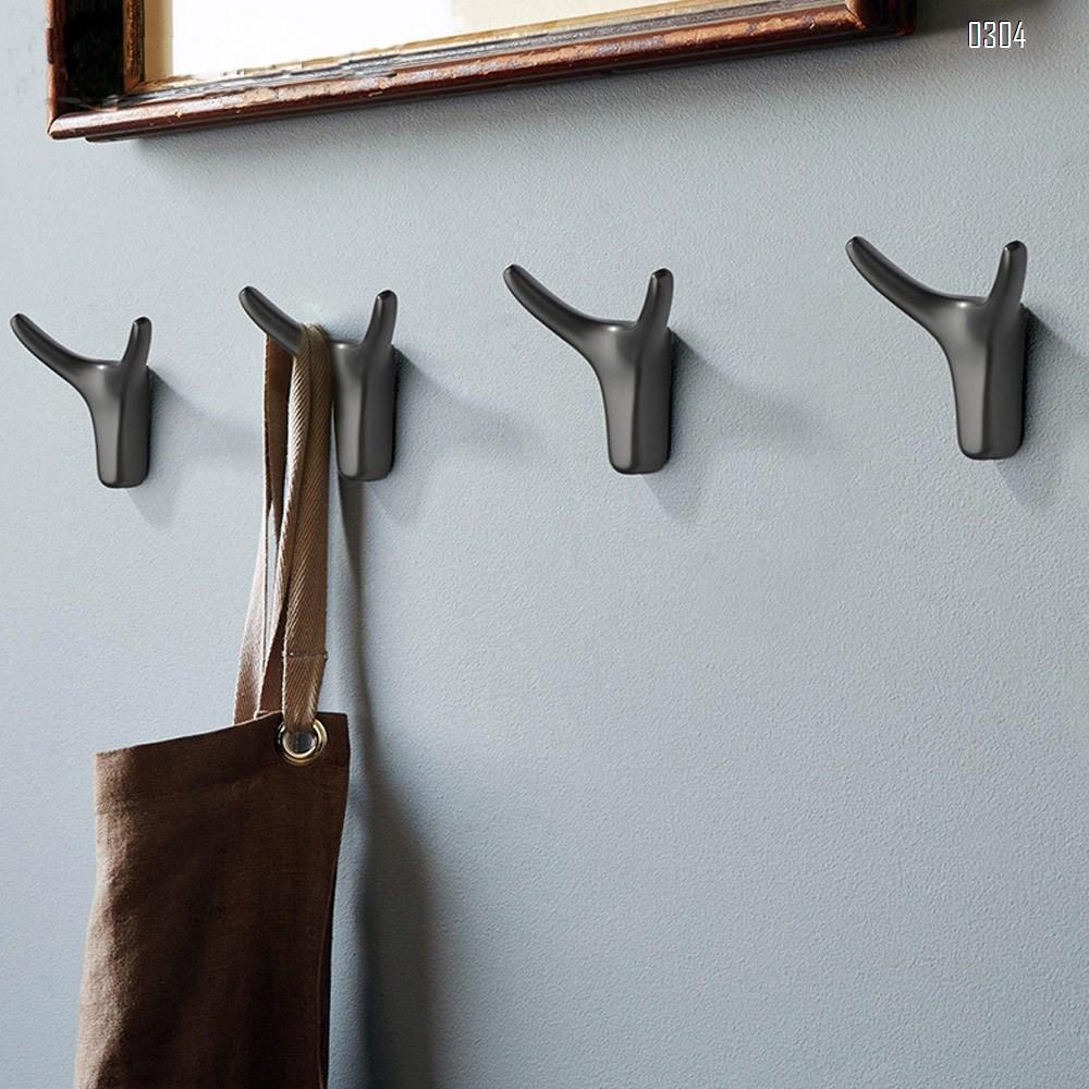 Gold Deer Head Coat Hooks - 2.5 inch Faux Taxidermy Animal Head Wall Decor - Handmade Farmhouse Decor - Rustic Wall Decor