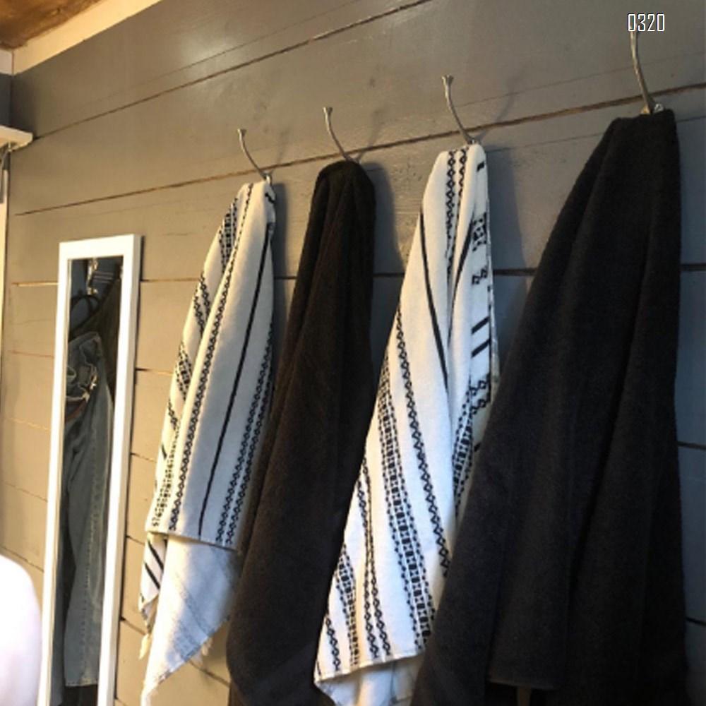 Black Wire Heavy Duty Wall Mounted Hook Hardware Tri Prong Retro Coat Hooks Retro Hooks for Coat, Scarf, Bag, Towel, Key, Cap, Cup, Hat