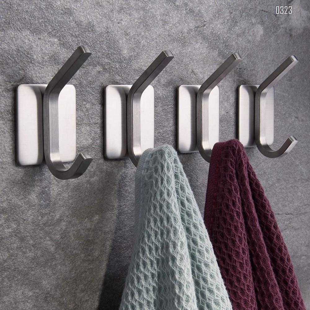 Towel Hook/Adhesive Hooks - Wall Hooks for Hanging Bathroom Stick on Hooks 304 Stainless Steel Brushed