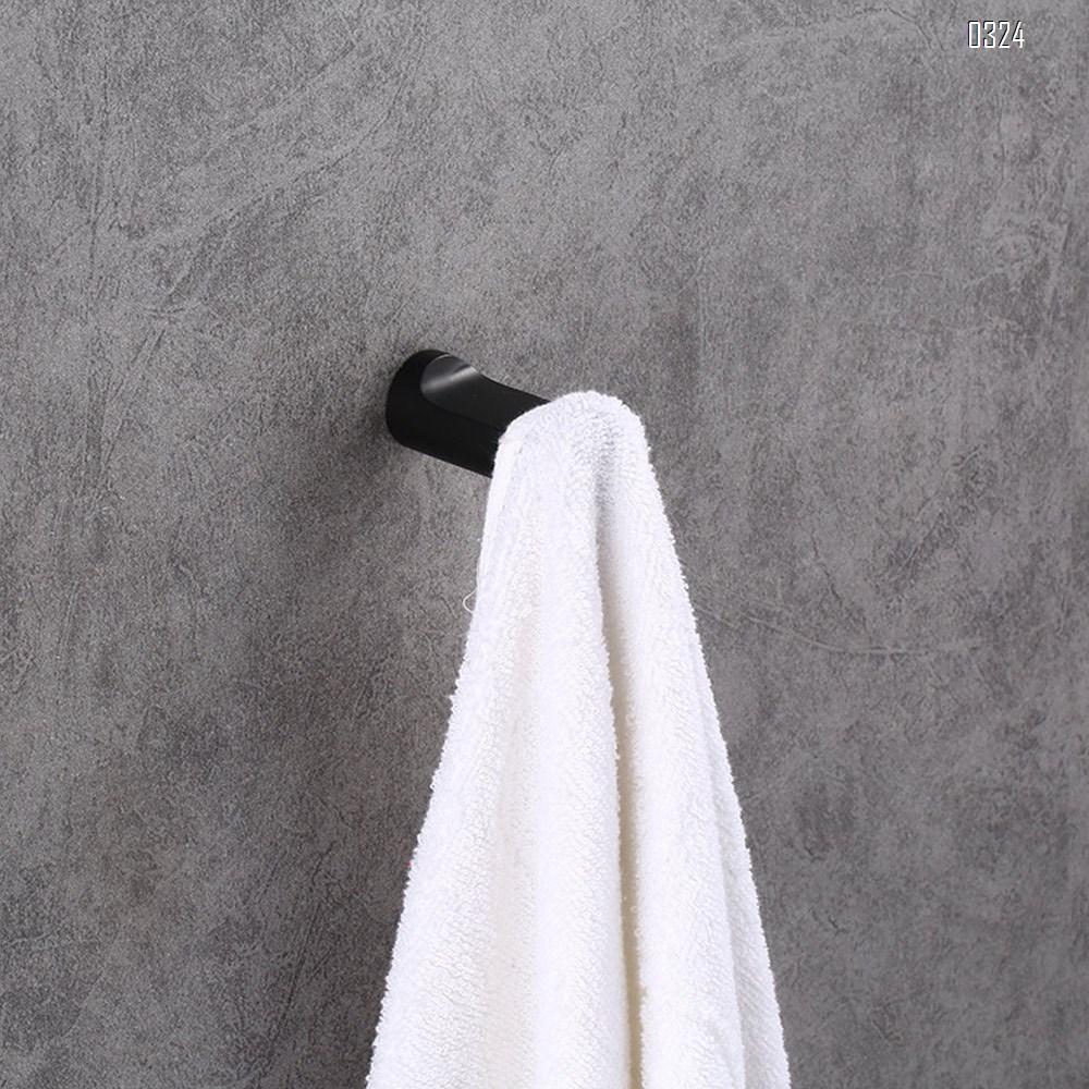 Zinc alloy wardrobe hook bathroom black hook northern Europe creative wall hook