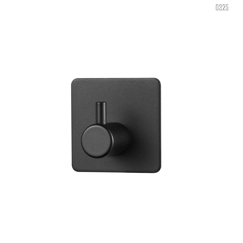 Self Adhesive Heavy Duty Hooks - Black 304 Stainless Steel Waterproof, Towel Rack, Robe Hanger, Sticky Wall Hooks Hanging Coat, Bag, Hat, Washroom Bathroom Kitchen Glass Anti-Skid Hook