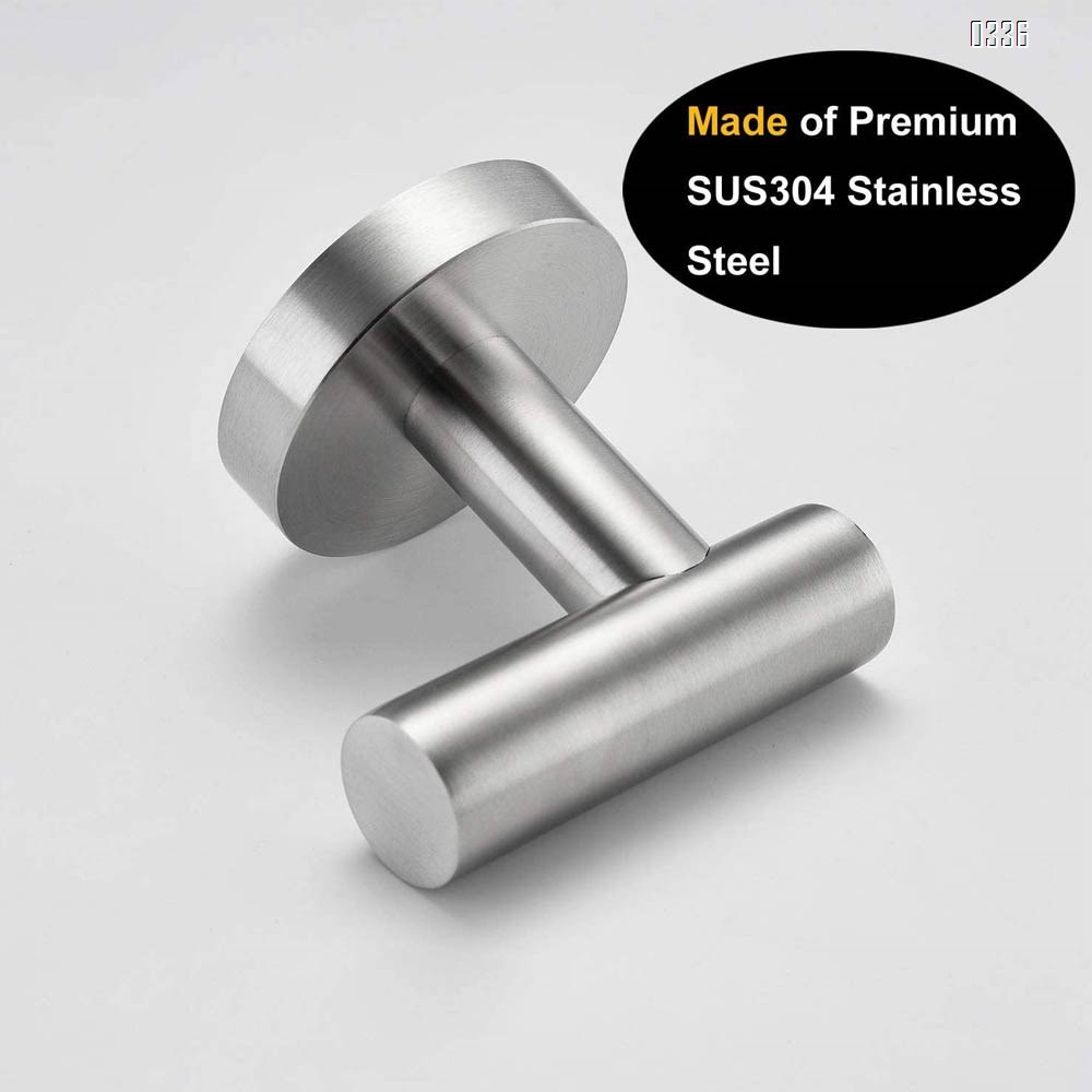 Bathroom Towel Hook No Drill Robe Hook Shower Kitchen Wall Hanging Hooks Wall Mount SUS 304 Stainless Steel
