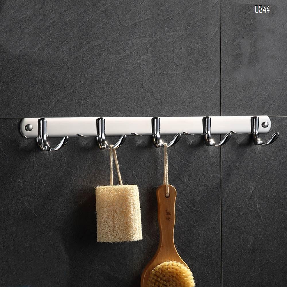 Mirror Face Wall Mount Coat Hooks,5 Tri Hooks Heavy Duty Stainless Steel Hook Rail for Coat Hat Towel Robes Mudroom Bathroom Entryway