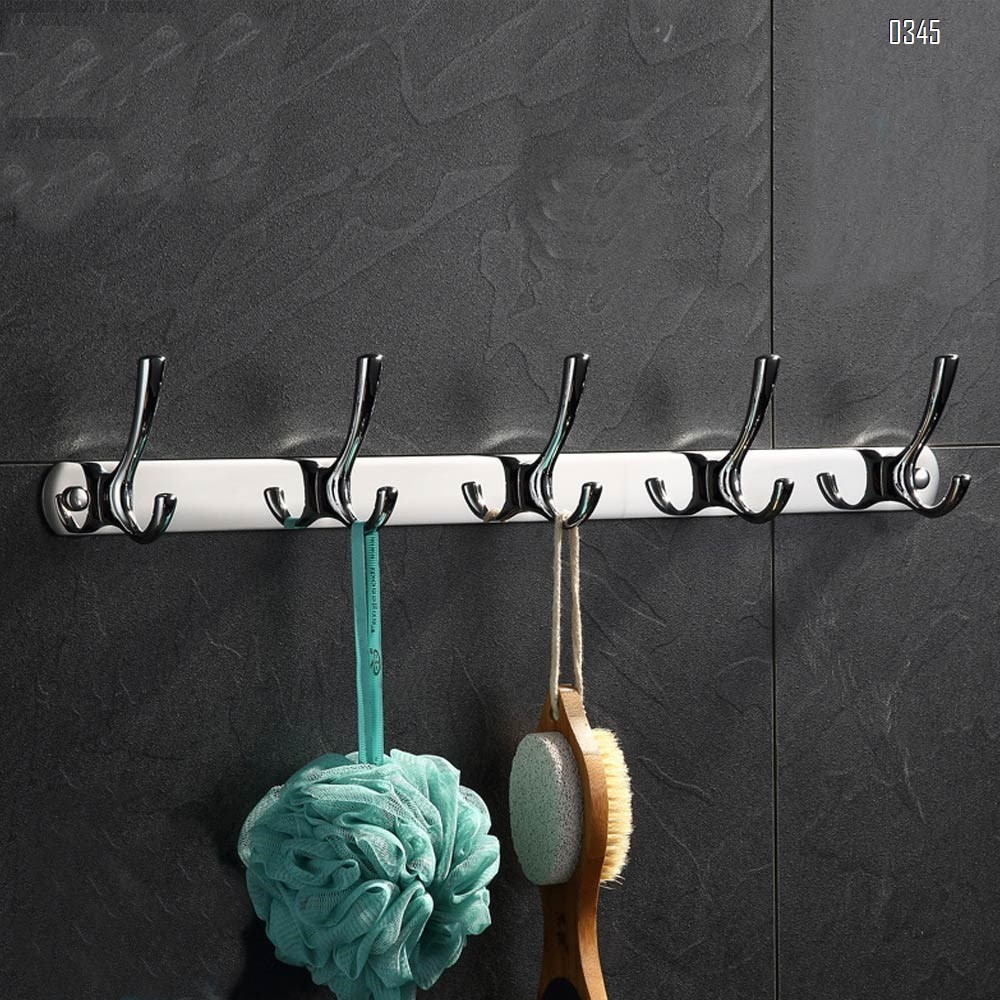 Mirror face Coat Hook Rack with 5 Round Hooks - Premium Modern Wall Mounted - Ultra durable with solid steel construction, stainless steel finish, Super easy installation, Rust and water proof