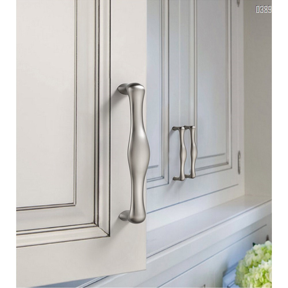 Three Colors Zinc Alloy European Style Rounded Foot Cabinet Hardware Handles 96mm Kitchen Drawer Pulls, 3.7 Inch Hole Centers