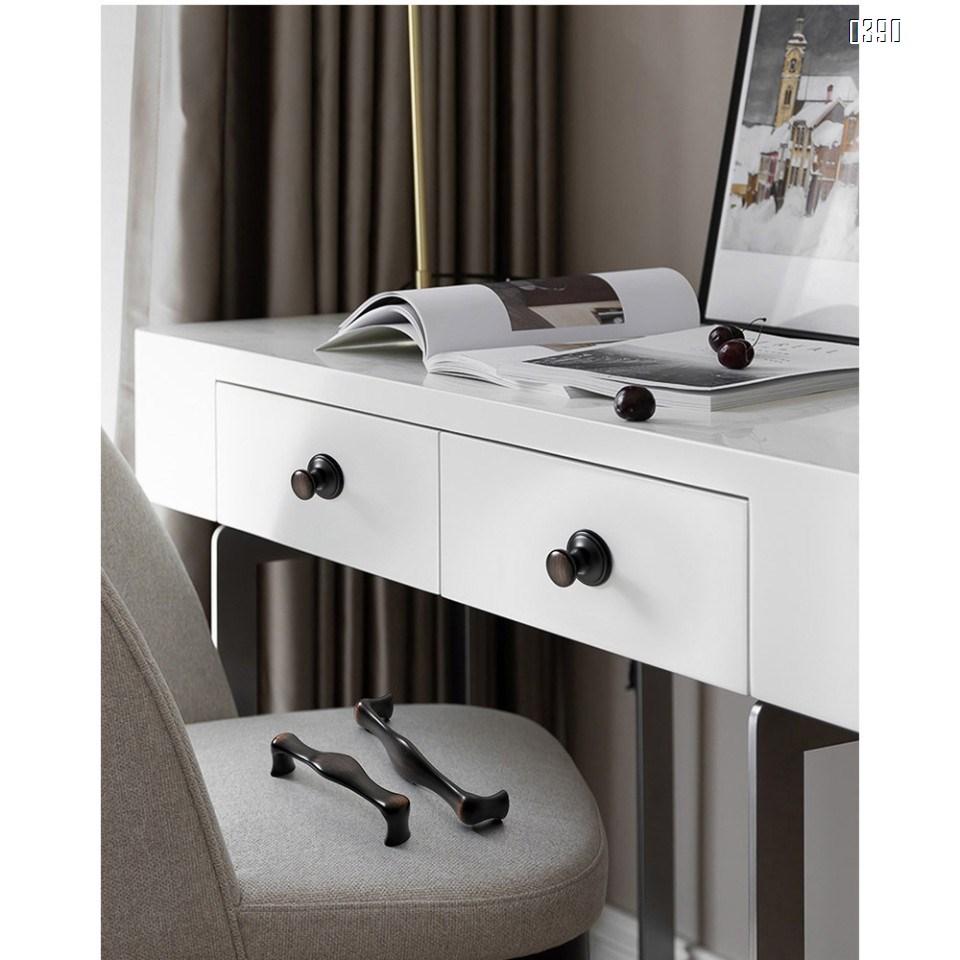 Zinc Alloy Three Colors Kitchen Cabinet Knobs 1.5 Inch Round Drawer Handles