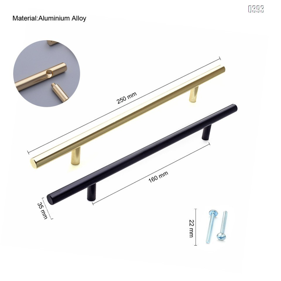 Cabinet Pulls Gold Black Cabinet Handles Drawer Pulls Aluminium Alloy Dresser Pulls Kitchen pulls for Cabinets 10 Inch Length, 6.3 Inch Hole Center
