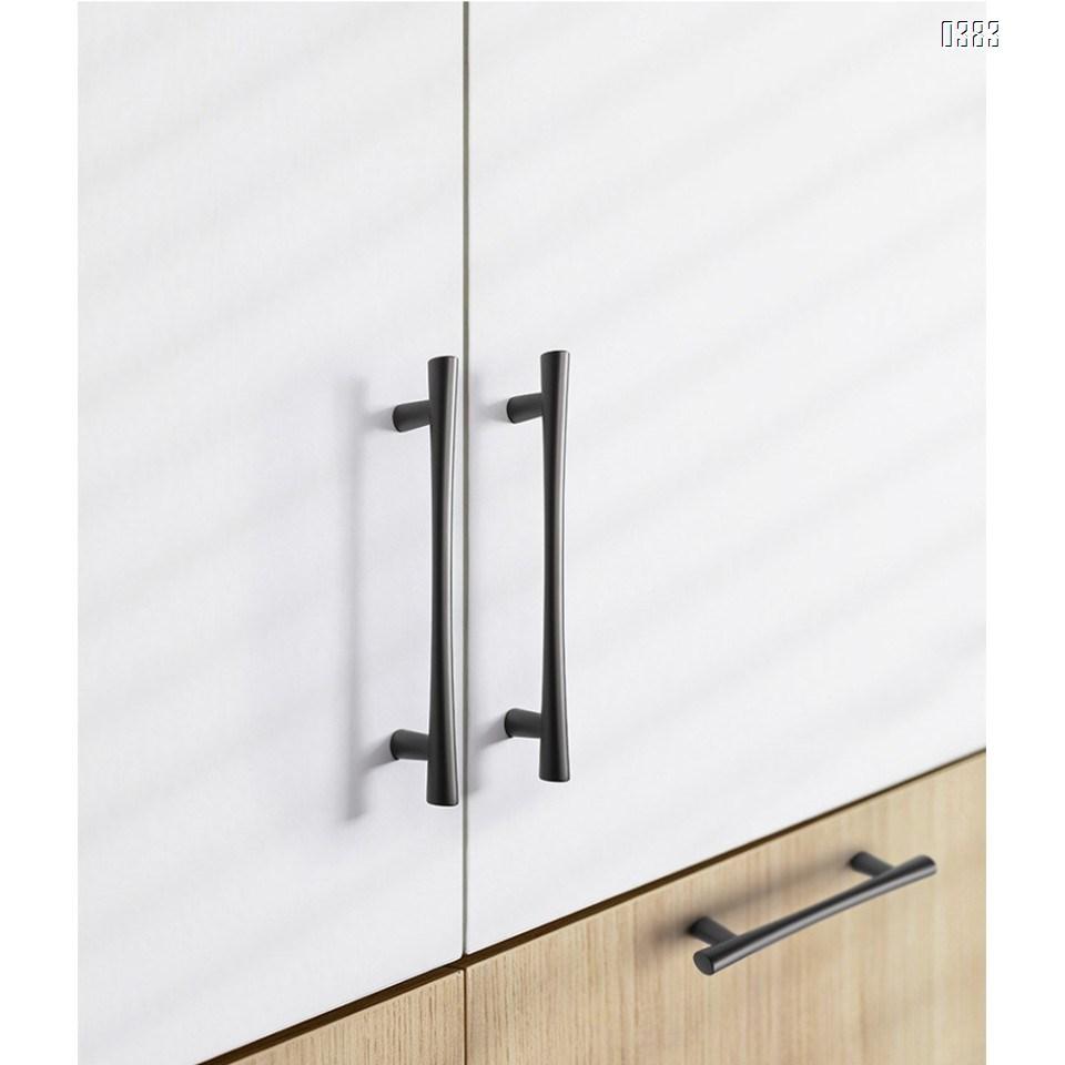 Plated Brushed Cabinet Pulls Matte Black Zinc Alloy Kitchen Cupboard Handles Cabinet Handles 128 mm Hole Center