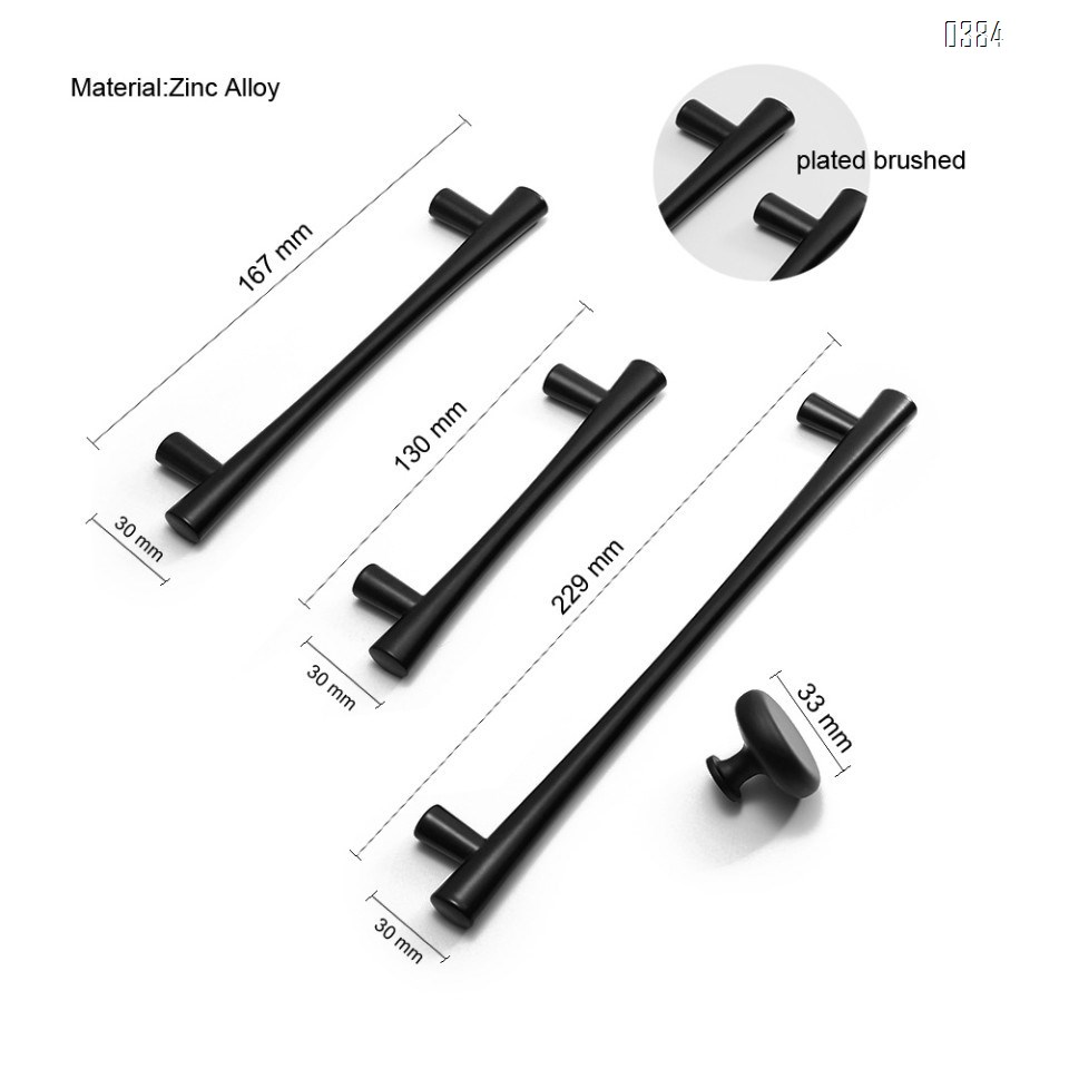 Plated Brushed Cabinet Pulls Matte Black Zinc Alloy Kitchen Cupboard Handles Cabinet Handles 96 mm Hole Center