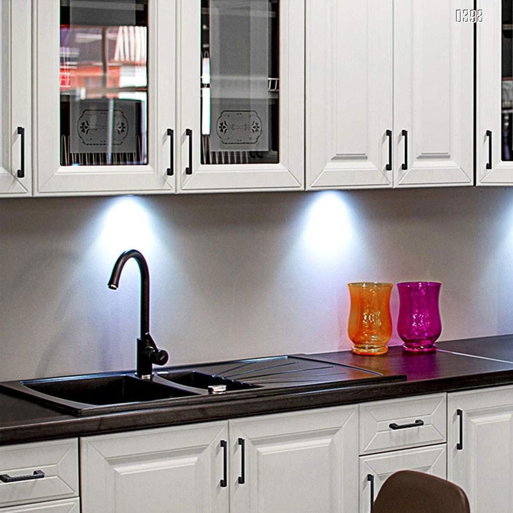 Aluminium Alloy Drawer Pulls Kitchen Hardware Cabinet Handles, 5 Inch (128mm) Hole Centers, Matte Black