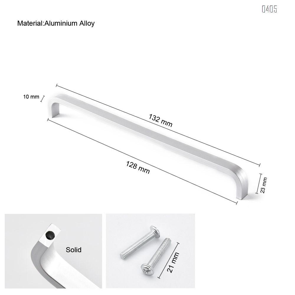 Aluminium Alloy Square Corner Bar Cabinet Door Handles Drawer Pulls Knobs Hole Centers 5 inch 128 mm
