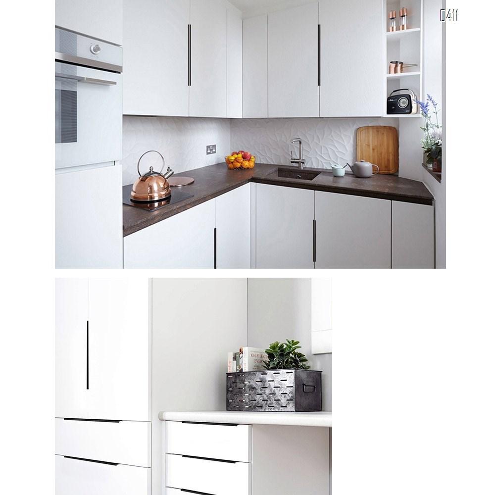 Modern Style Finger Edge Pull Furniture DrawerHandles Hidden Cabinet Kitchen Drawer Concealed Handle Hole Centers 96 mm