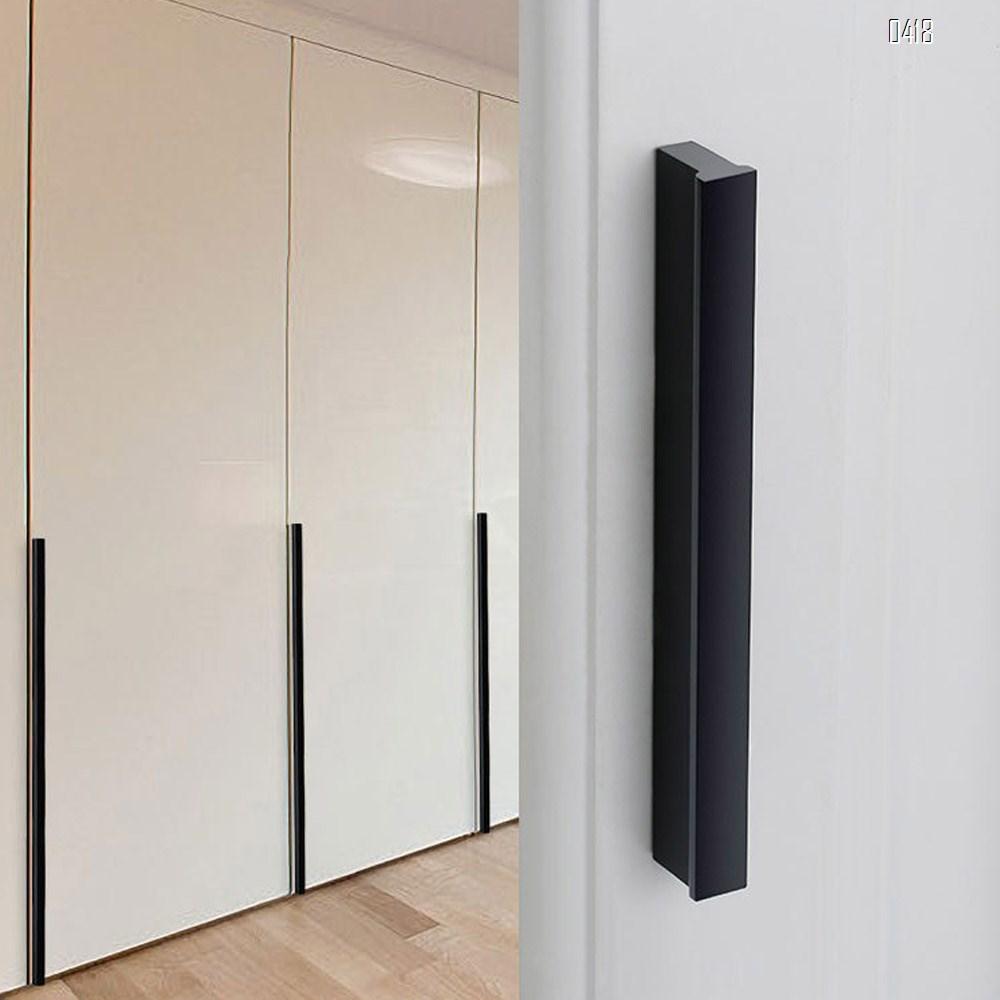 Matt Black And Gold Cabinet Door Handles and Pulls, Furniture Drawer Handles, Aluminium Alloy, 212mm Long, Kitchen Cabinet Wardrobe Knobs Bars, Center to Center 192mm
