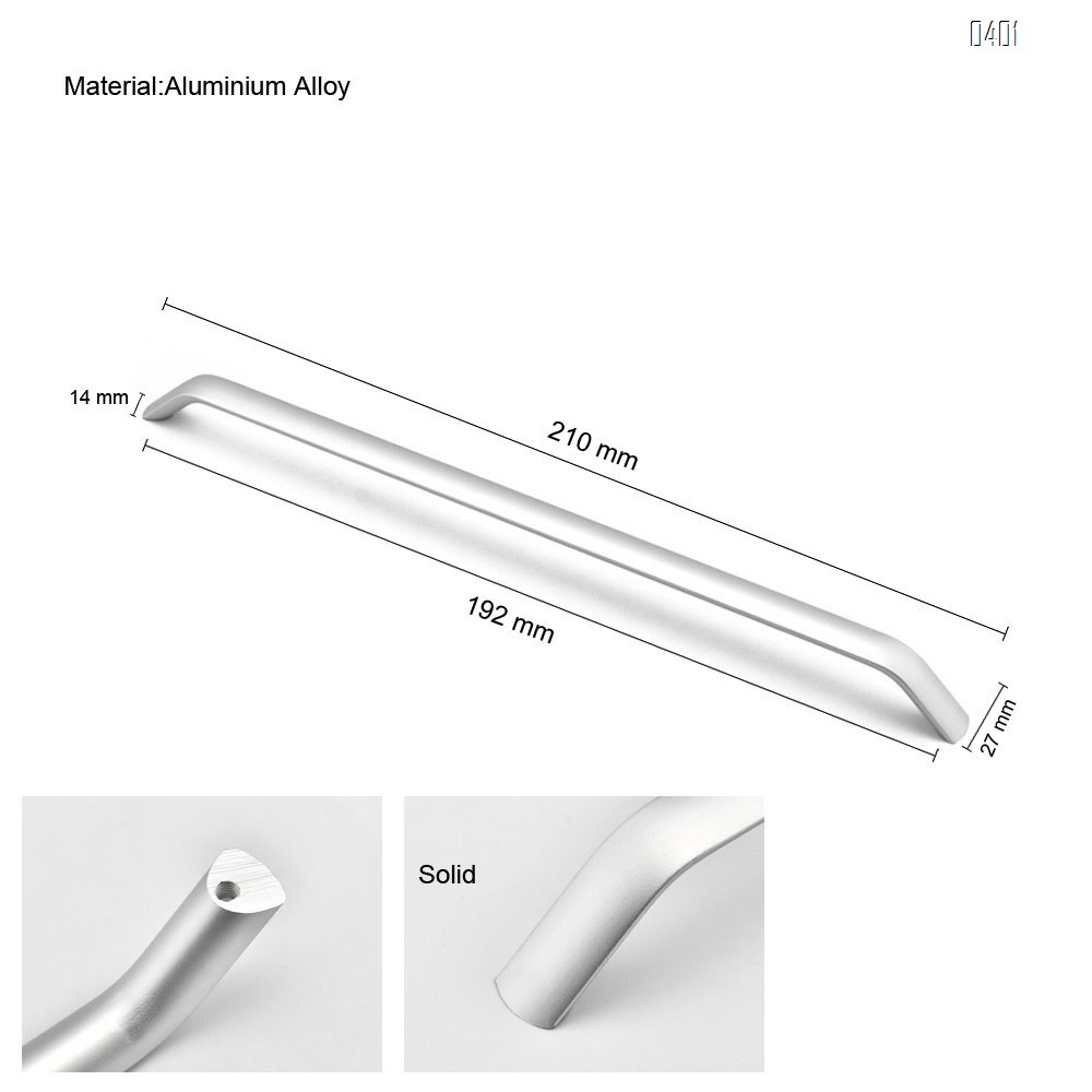 American Style Black Solid Space Aluminium Alloy Handles Cabinet Handles Drawer Knobs Door Pulls Furniture Handle Hardware Hole Center 192mm