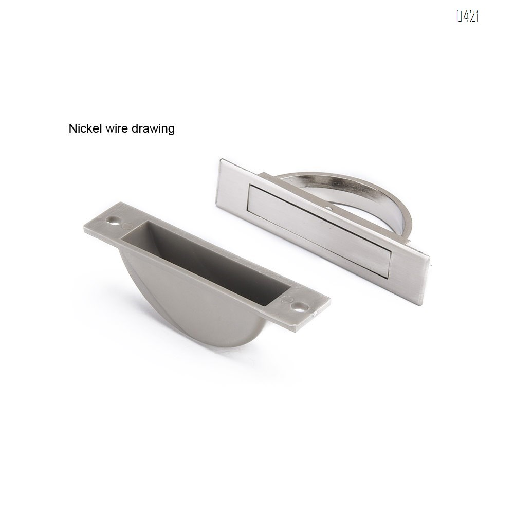 180° Rotating Concealed Concealed Zinc Alloy Tatami Handle Hardware Cabinet, Door, Drawer, Wardrobe, Tatami
