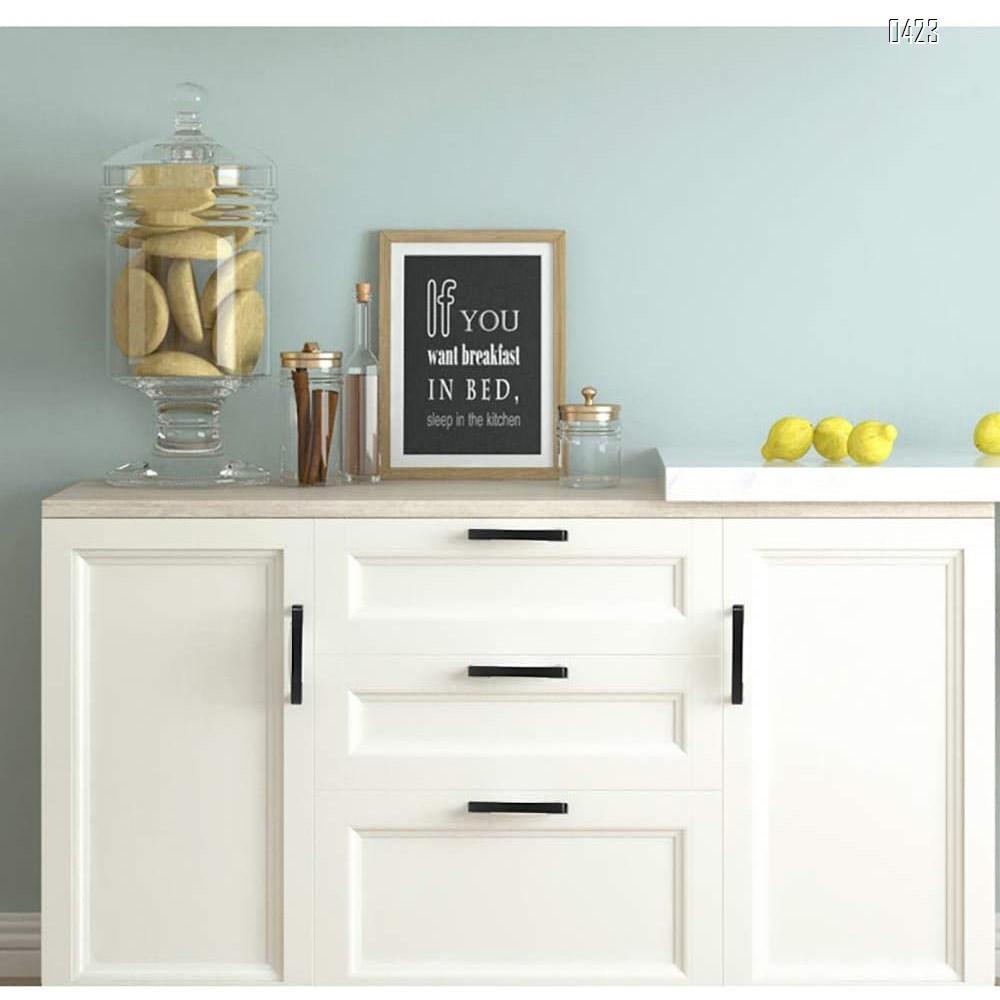Modern  Square Drawer Pulls Zinc Alloy Kitchen Hardware Cabinet Handles, 192mm Hole Centers