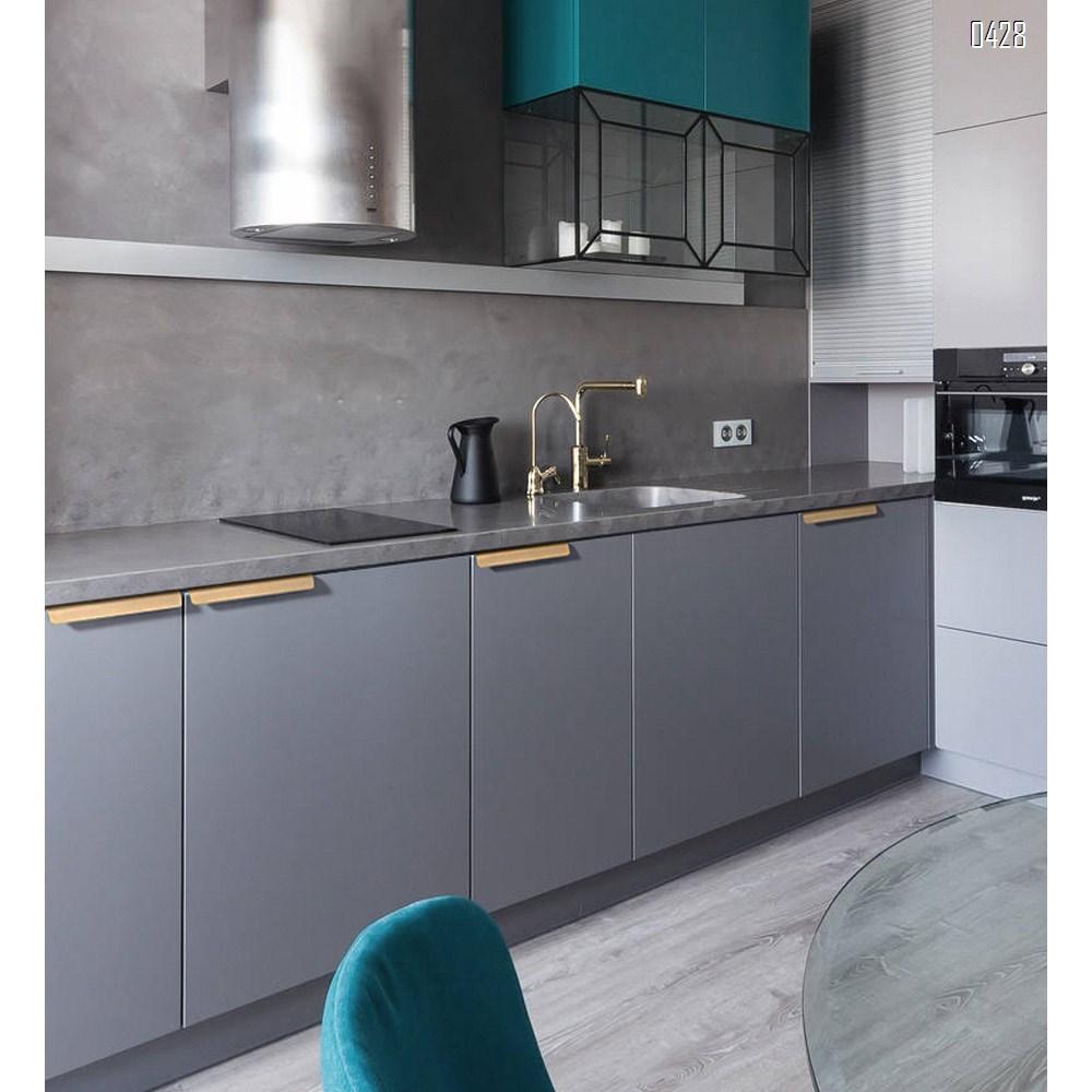 320 mm Hole Center Black And Gold Mount Finger Edge Pull Concealed Handle for Home Kitchen Door Drawer Cabinet