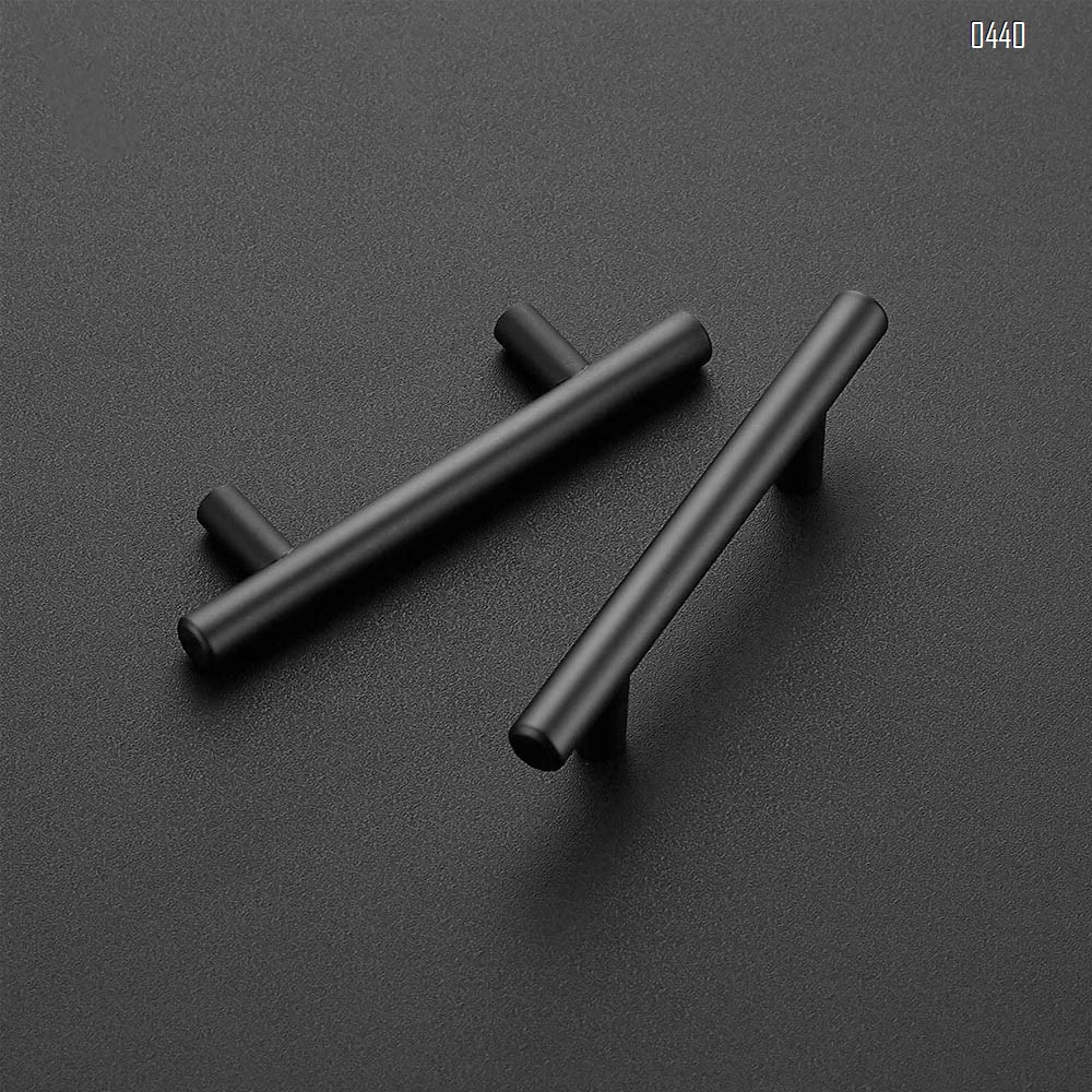 6 inch Cabinet Pulls Matte Black Stainless Steel Kitchen Drawer Pulls Cabinet Handles 5 inch Length, 3.7 inch Hole Center