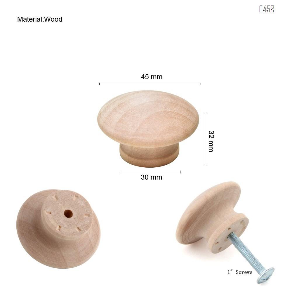 Round Wood Drawer Knob 1-1/2 inch, Cabinet Pulls Handles Hardware for Drawer Wardrobe Dresser