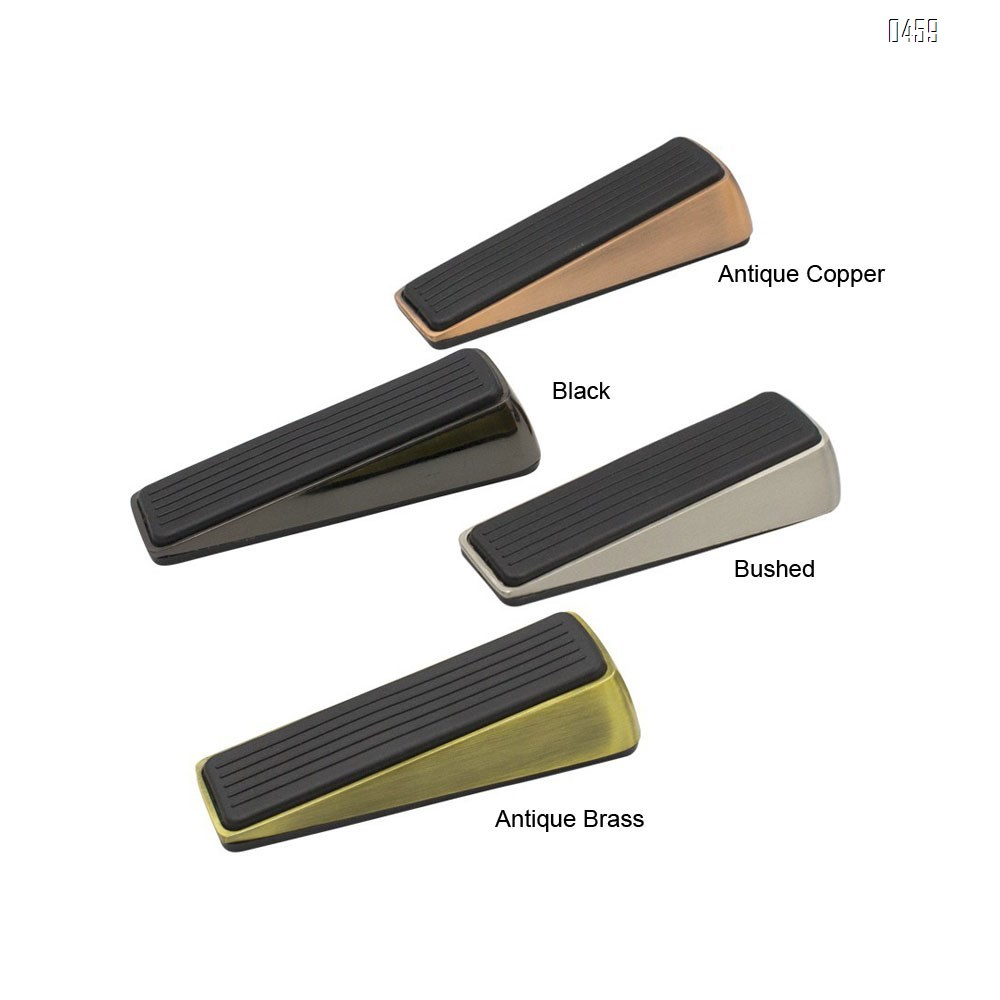 Doorstop / Door Buffers Made of Stainless Steel and Rubber, Non-Slip, Robust Door Wedge