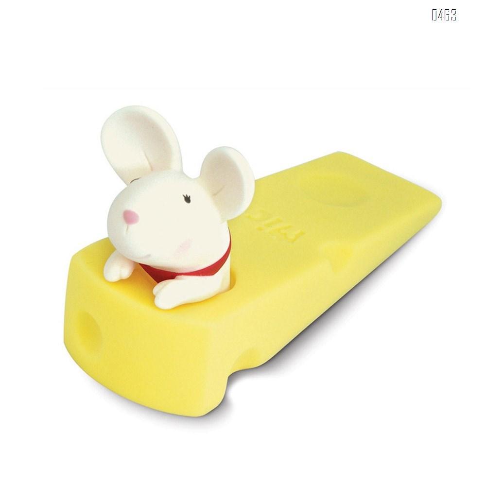 Cute Mouse Stopper, Gray Mouse Door Stop Decorative Animal Doorstop Door Wedge