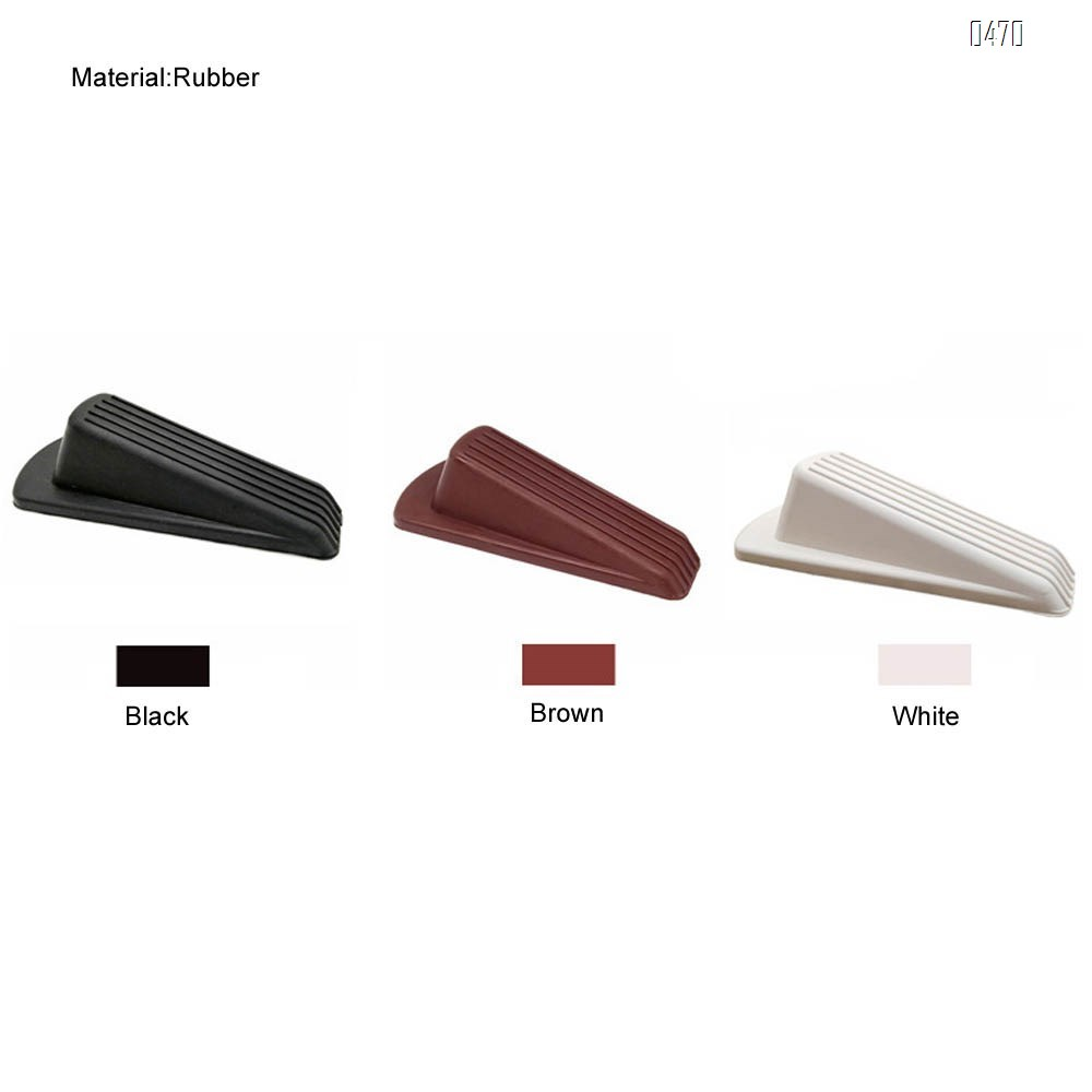 Classic Rubber Door Stopper - Sturdy and Durable Security Door Stop Wedge, Multi Surface and Non Scratching