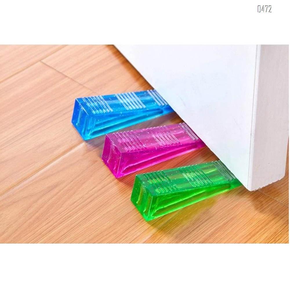 Rubber Door Stopper Multi Surface Door Stop Door Wedge  Transparent