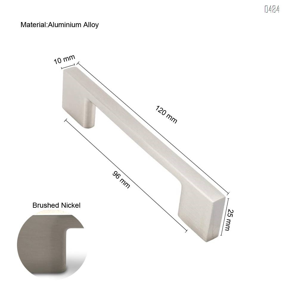 Brushed Nickel Cabinet Handles, 5.1 Inches Total Length, 3.75 Inch Screw Spacing, Nickel Drawer Pulls, Modern Cabinet Hardware, Nickel Cabinet Pulls