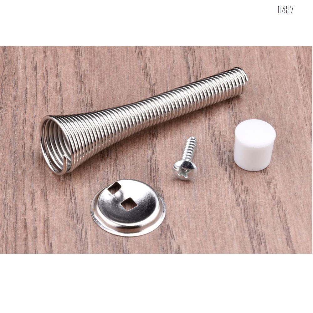 3.3-inch Spring Door Stopper Flexible Spring Design, Durable and Easy to Install Door Stop in Modern spring steel Prevents Damage for Wall And Door, Child-Friendly