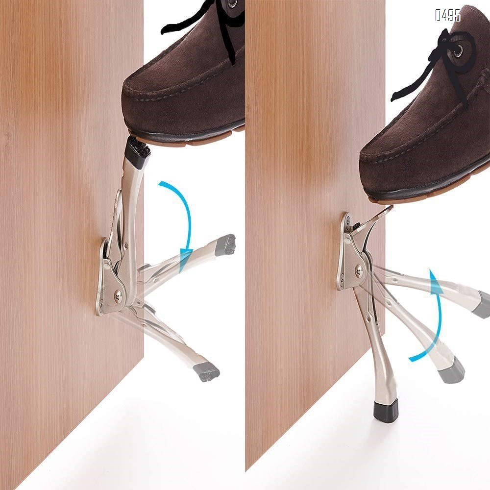 one Touch Door Stopper,Door Stop with a Height-Adjustable Rubber