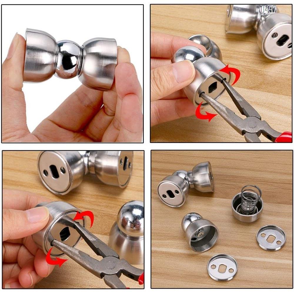 Powerful Magnetic Doorstop - Stainless Steel Mini Door Stopper, Heavy Duty Magnetism Door Holder for Bedroom Bathroom Kitchen Home Office
