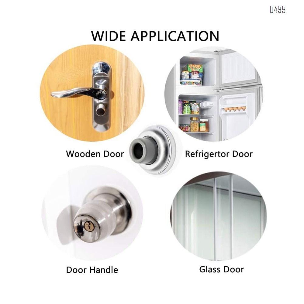 Hardware Wall Door Stop Rubber Bumper Safety Doorstop Sound Dampening Protects Walls from Door Knob